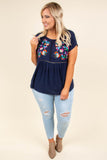 Countryside Views Top, Navy