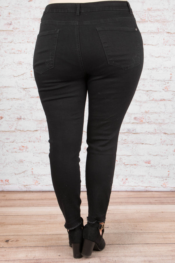 Into The Night Skinny Jeans, Black