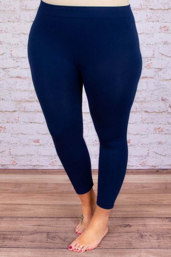 Luxe Leggings, Cropped Navy