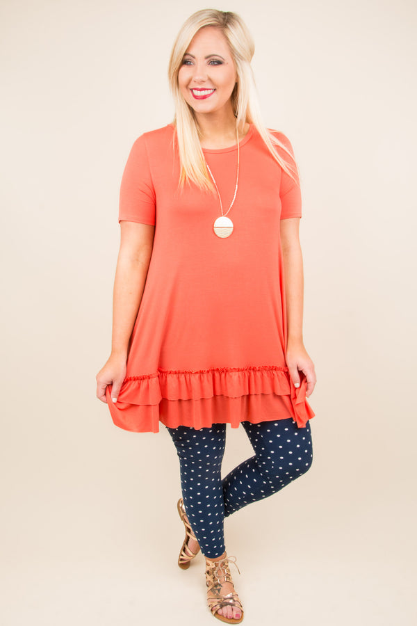 Crush On You Tunic, Hot Coral