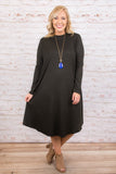 Comfy Queen Dress, Black