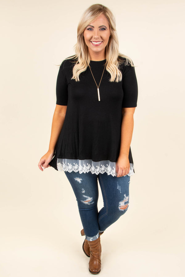 Walk Outta Here Top, Black