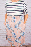 True Believer Dress, Peach