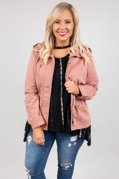 Noon To Night Jacket, Mauve