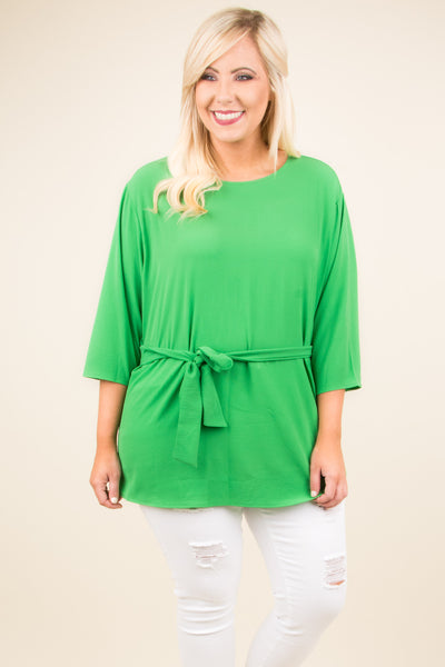 Big Expectations Blouse, Green