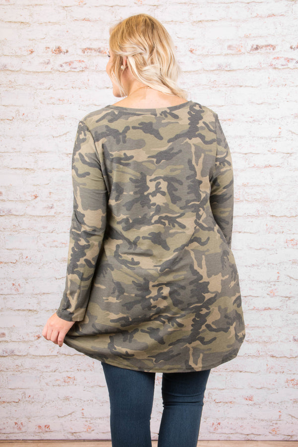 Lucky Charm Tunic, Olive
