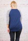 Staying In Tonight Top, Navy