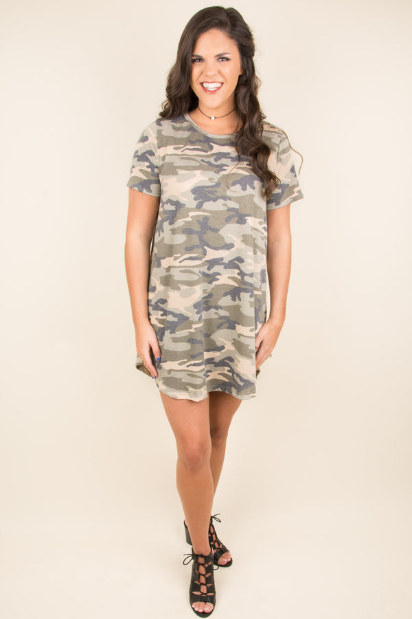Casual Situation Dress, Olive
