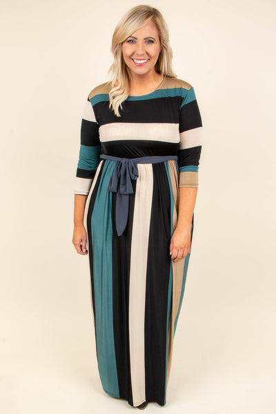 Long Day Maxi Dress, Teal