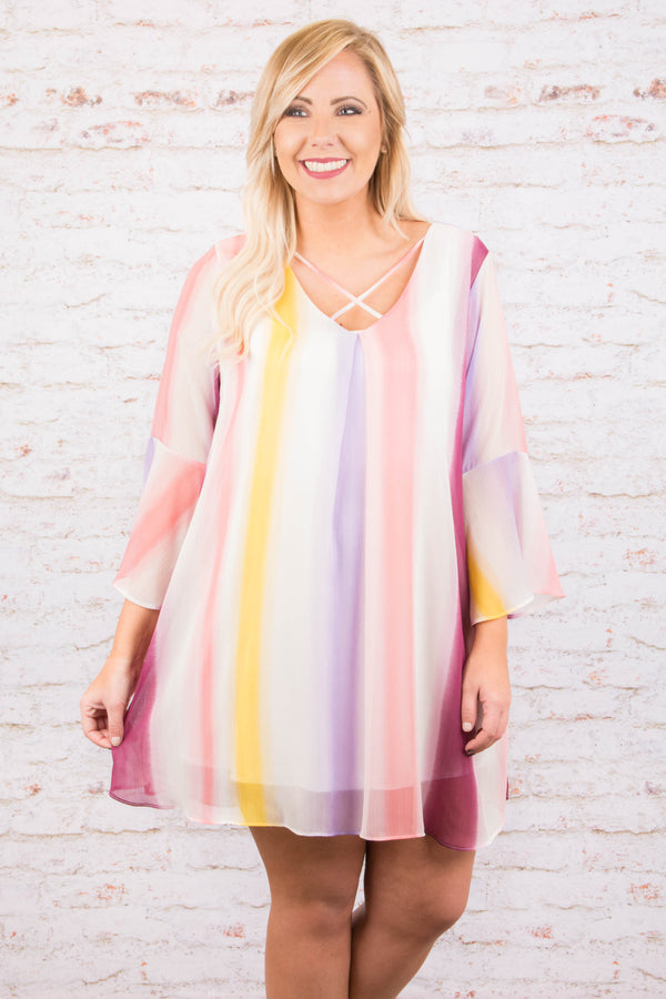 Painting With Pastels Dress, Pink