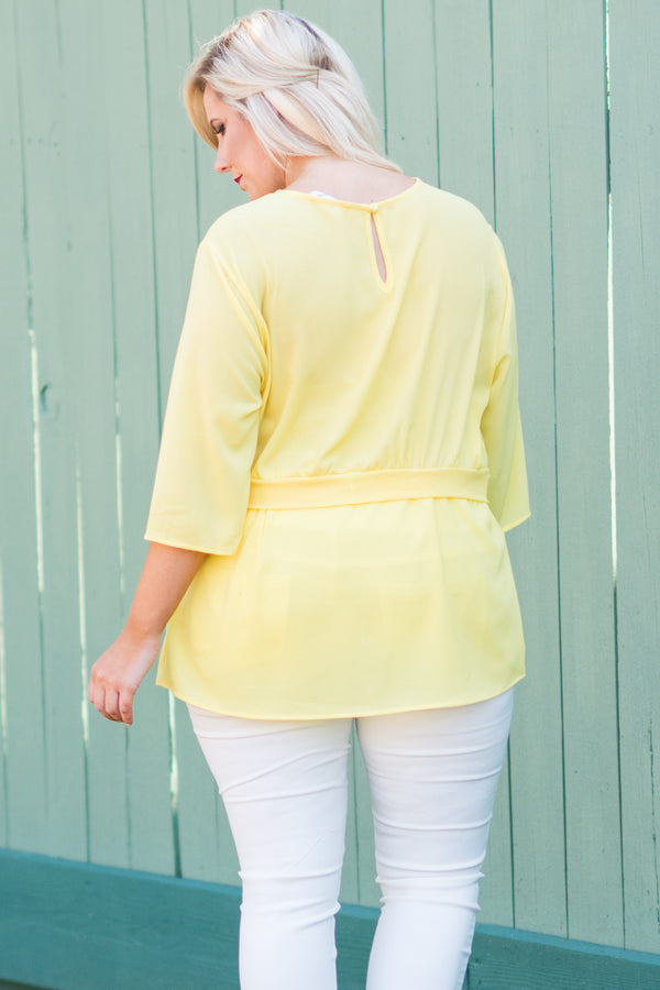 Big Expectations Blouse, Yellow