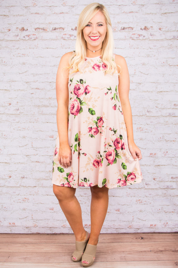 Blooming Blossoms Dress, Blush