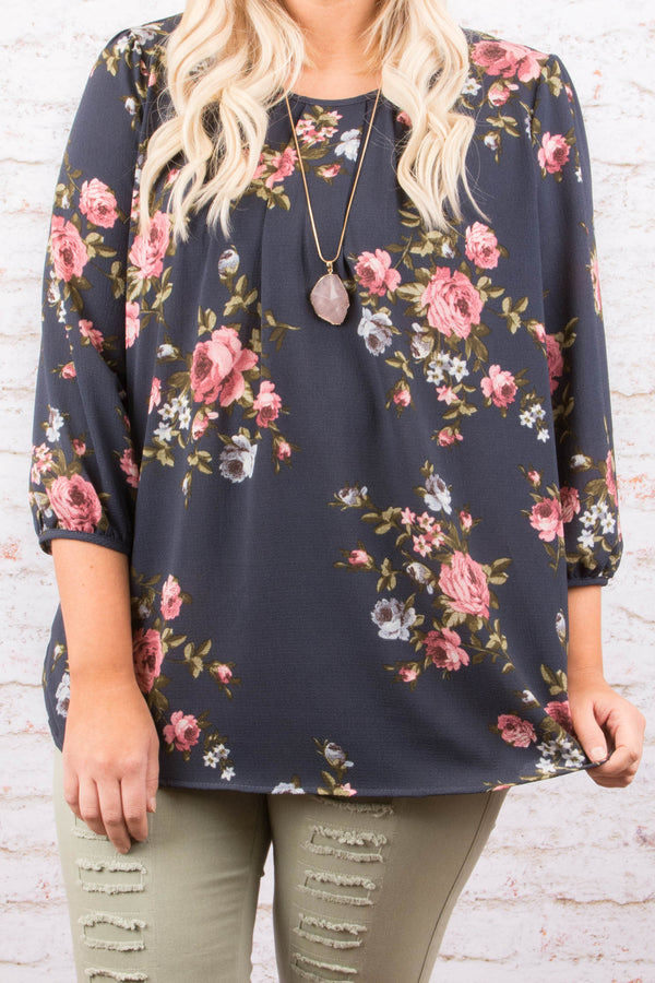 Simply Irresistible Blouse, Navy