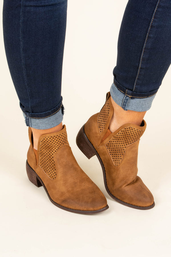 Leave Your Mark Booties, Tan