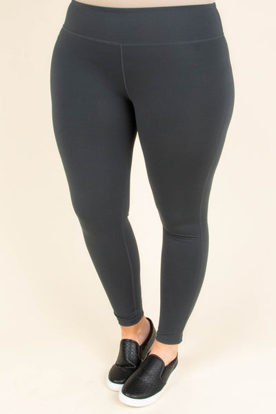 leggings, long, gray, solid, comfy, lace up detail