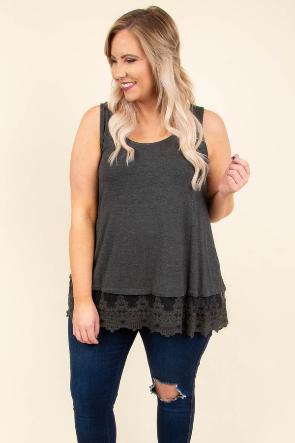 Nights In The Spotlight Top, Charcoal