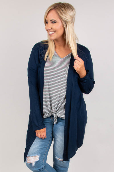 To The Mountains Cardigan, Midnight Navy