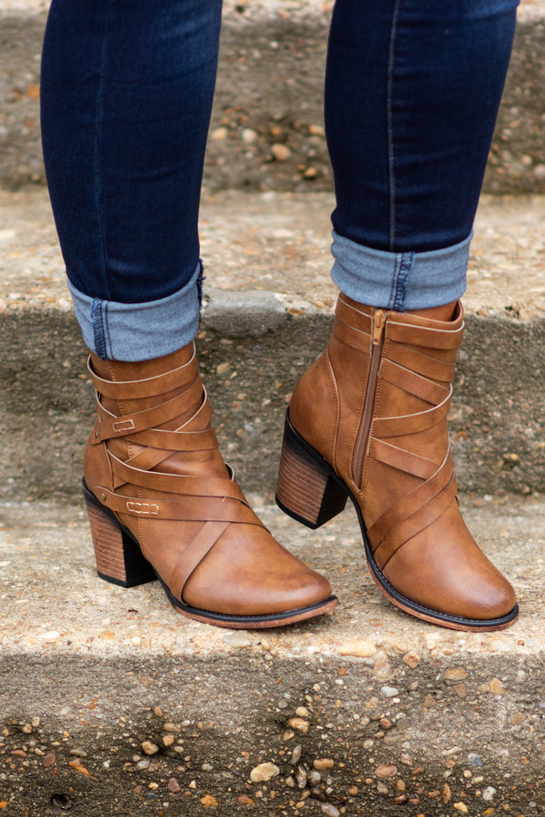 Rule Breaker Booties, Tan