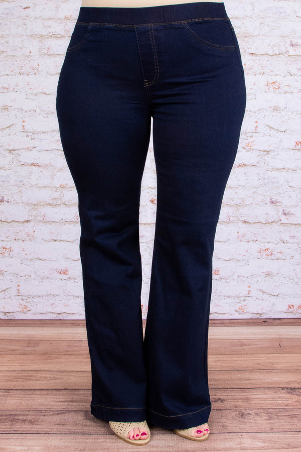 Dare To Flare Jeans, Super Dark Wash