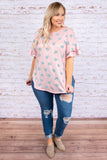 Hearts Are Fluttering Tunic, Pink