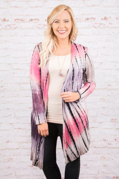 Magical Thinking Cardigan, Pink-Purple