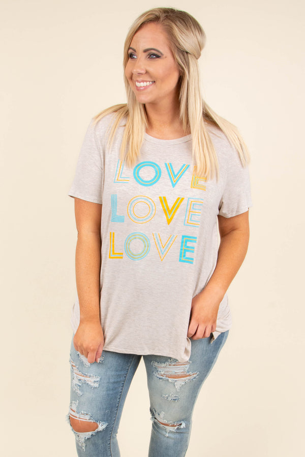 Love On My Mind Top, Oatmeal