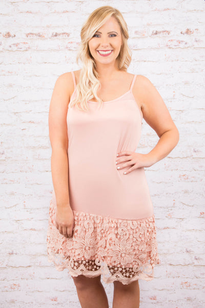 Lacey Love Dress Extender, Peach