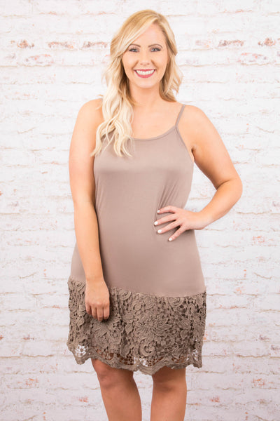 Lacey Love Dress Extender, Mocha