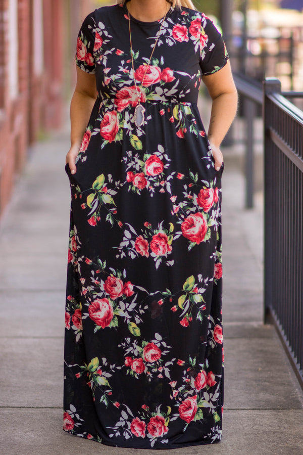 The Sunny Side Maxi Dress, Black