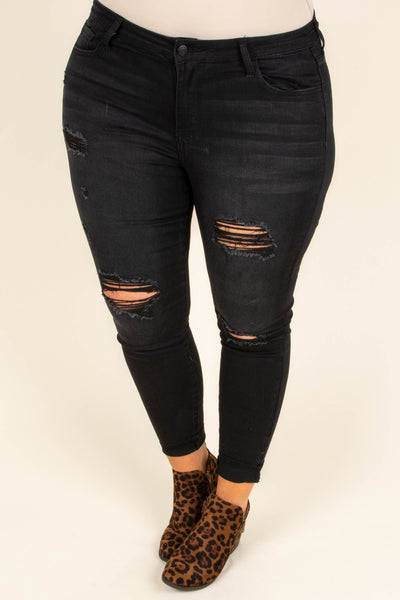 Starry Night Skinny Jeans, Black