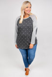 Dots Of Love Top, Charcoal