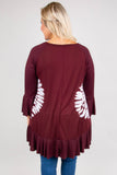 Hear Me Out Tunic, Burgundy