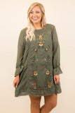 All In The Details Dress, Olive