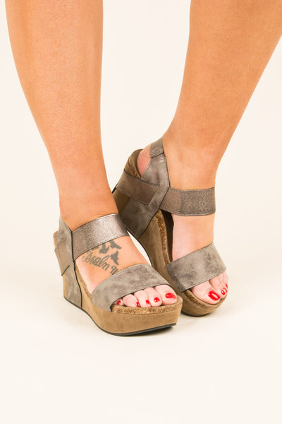 Sudden Crush Wedges, Pewter