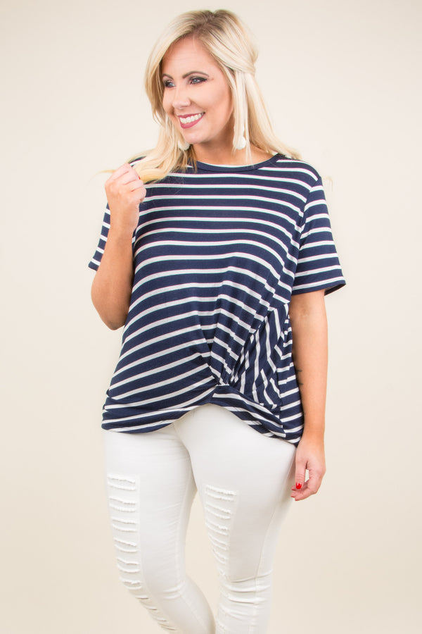 Totally Knotical Tee, Navy