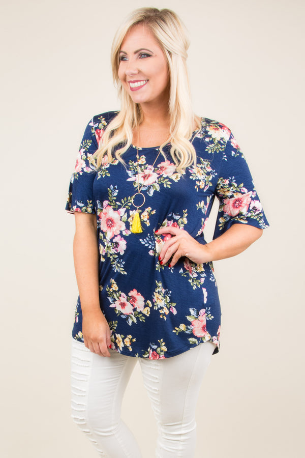 Can't Hide From Love Top, Navy