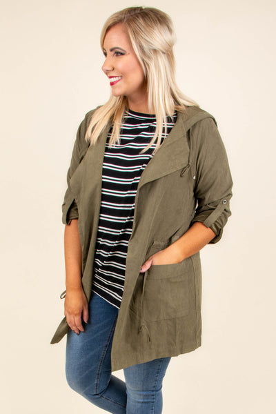 Warms My Heart Jacket, Olive