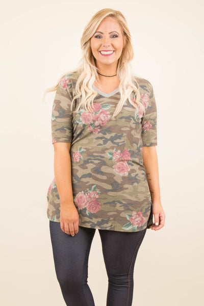 Hidden Talent Tunic, Olive