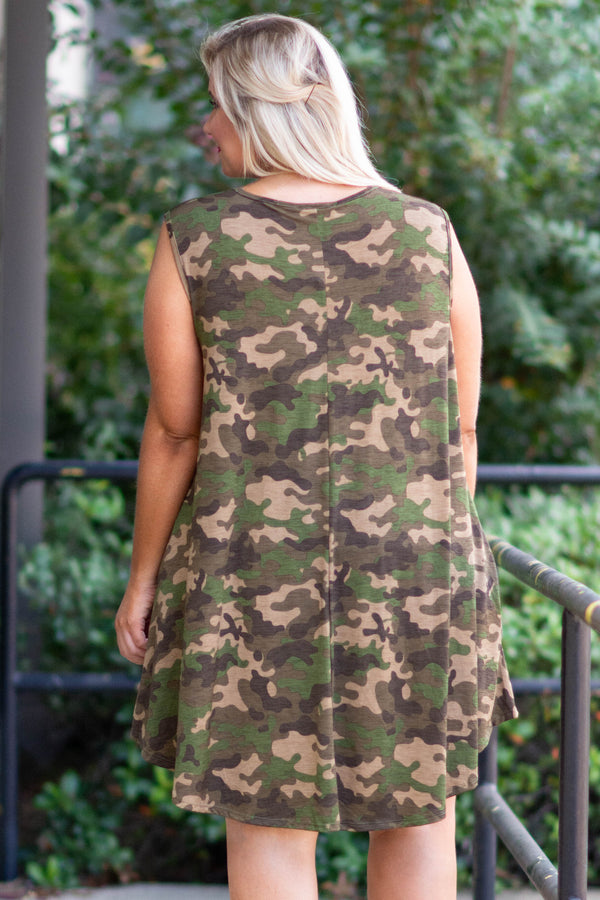 Back To Your Roots Dress, Olive
