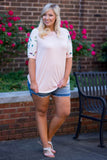 Casual Inspiration Top, Blush