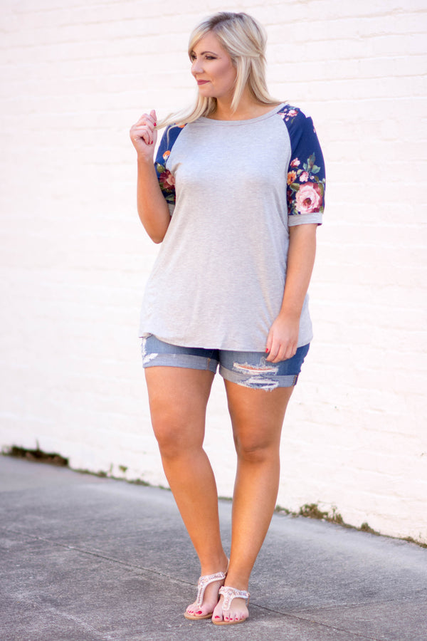 Casual Inspiration Top, Heather Gray