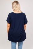 Comfy Travels Top, Navy