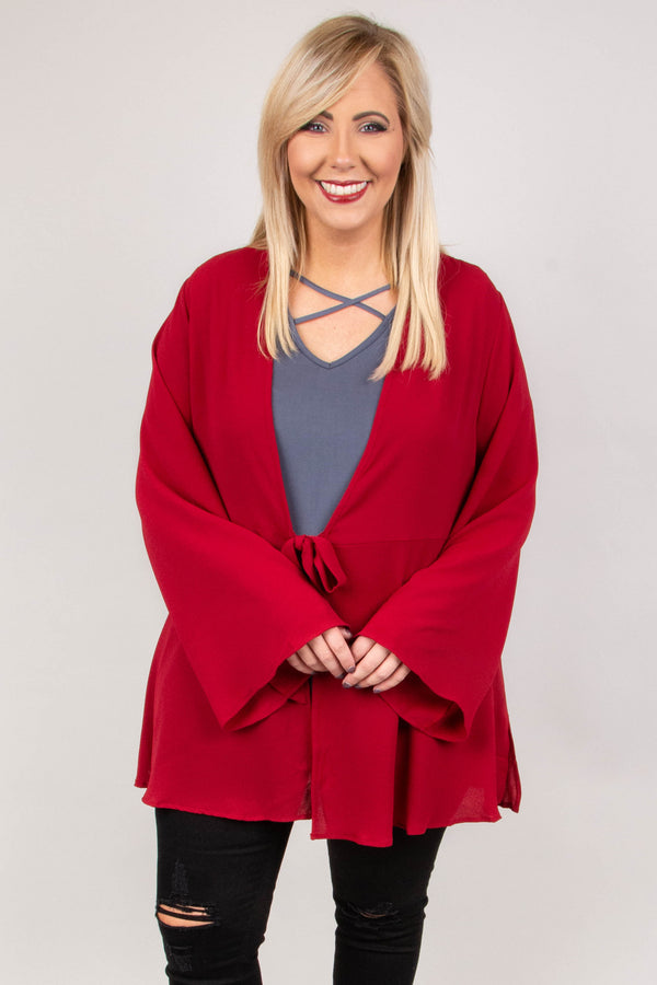 There's Nothing Better Cardigan, Burgundy