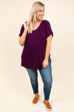 Comfy Travels Top, Dark Plum