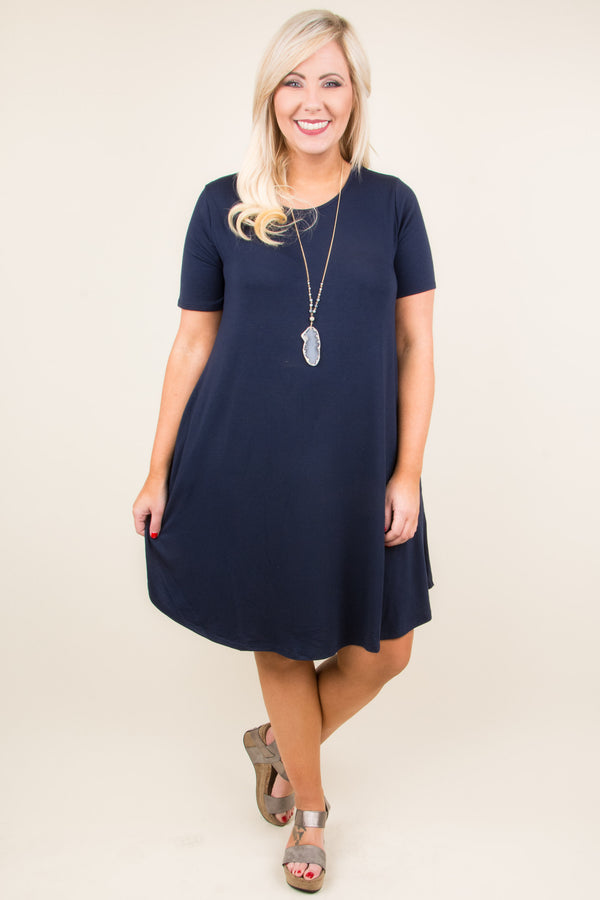Peace Of Mind Dress, Navy