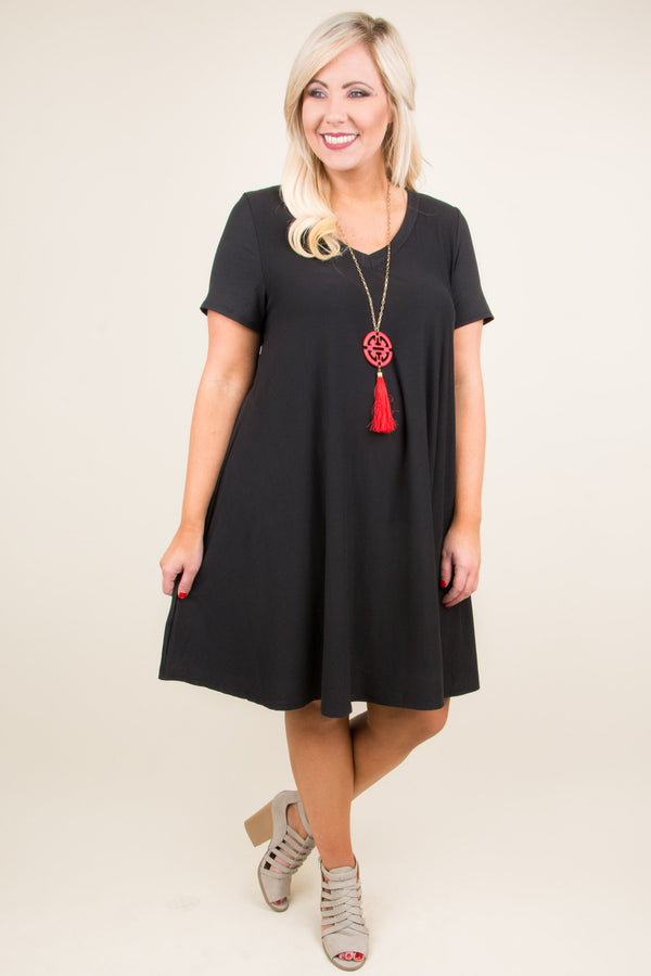 Changes Ahead Dress, Black
