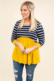 On The Road Again Tunic, Navy-Mustard
