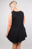 Casually Cute Tunic, Black