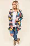 top, cardigan, grey, chevron, long sleeve, comfy, casual, fall, winter, layer