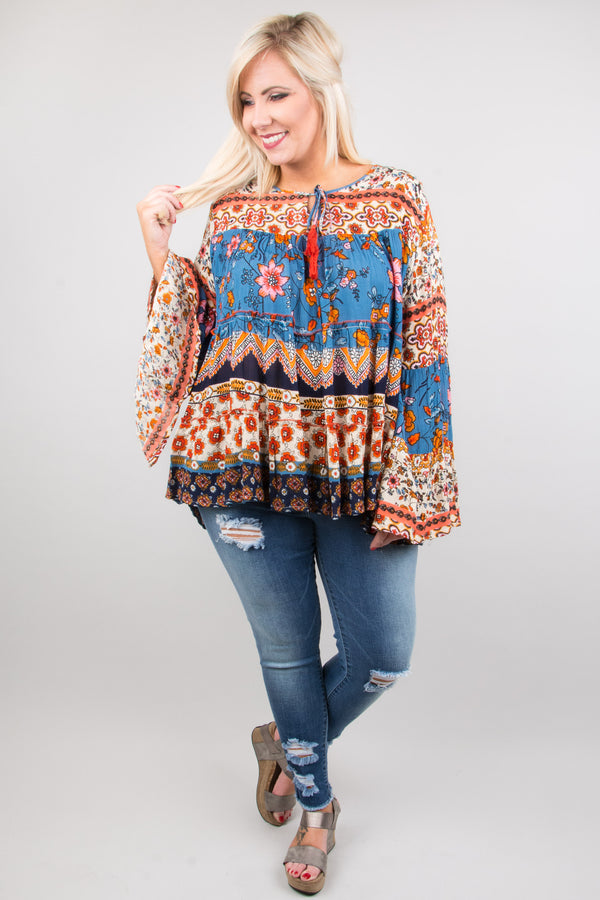 Live To Tell Blouse, Blue